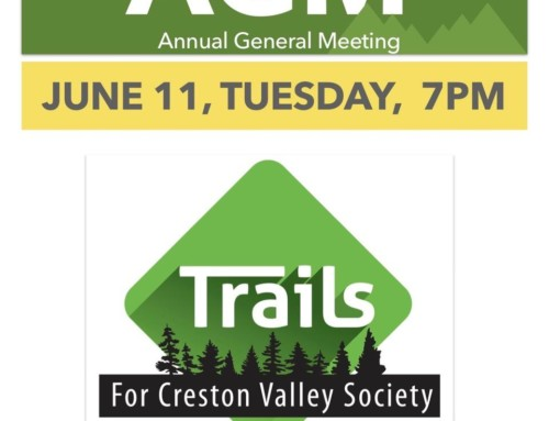 Trails AGM Tuesday June 11 at 7:00PM
