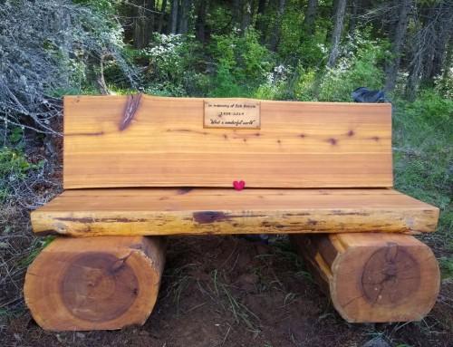 Bob Benvie's memorial bench